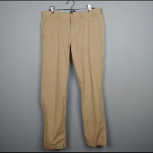 J Crew Sutton Khaki Slacks
